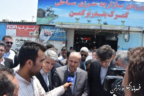 بازدید استاندار از اسکله شهرستان ترکمن
