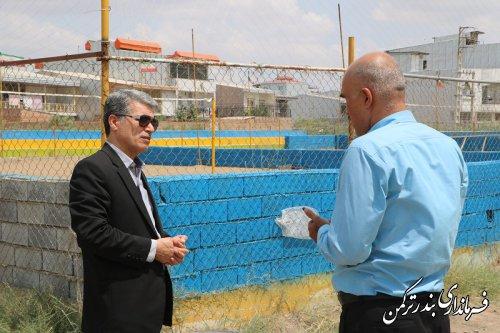 بازدید فرماندار از سالن ورزشی امام رضا (ع) شهرستان ترکمن
