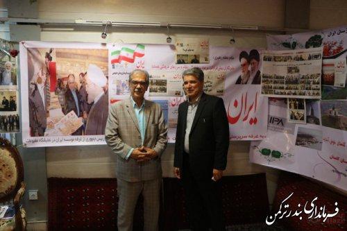 بازدید فرماندار ترکمن از نمایشگاه مطبوعات استان گلستان