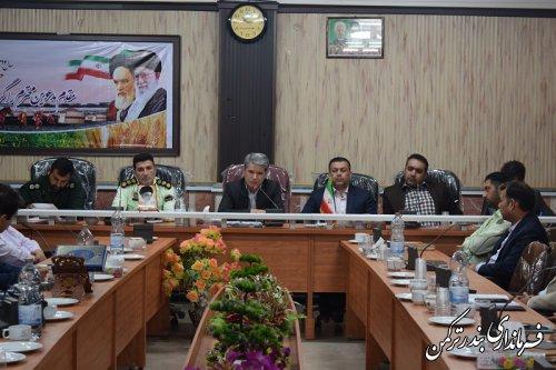 پنجمین جلسه شورای هماهنگی مبارزه با مواد مخدر شهرستان ترکمن برگزار شد