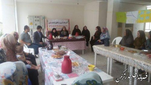 بازدید نماینده دفتر معاونت زنان و خانواده نهاد ریاست جمهوری از طرح تاب آوری و توان افزایی زنان در شهرستان ترکمن