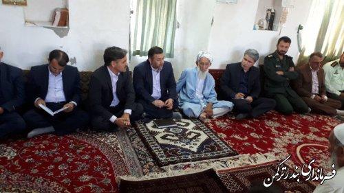 نشست فرماندار و مدیران دستگاههای اجرایی شهرستان ترکمن با اهالی روستای صفر حاجی
