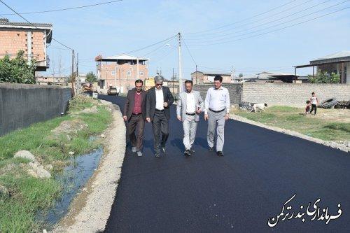 بازدید فرماندار ازروند اجرای طرح هادی روستاهای قره قاشلی و نیازآباد