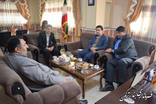 نشست مشترک فرمانداران غرب استان در شهرستان ترکمن برگزار شد