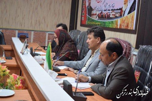 دومین جلسه انجمن کتابخانه عمومی شهرستان ترکمن برگزار شد