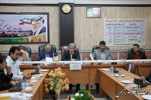 ششمین جلسه ستاد اشتغال شهرستان ترکمن برگزار شد
