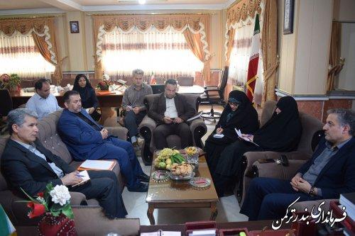 دیدار مدیرکل امور اجتماعی و فرهنگی استانداری با فرماندار شهرستان ترکمن