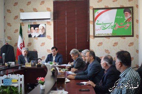 دومین جلسه شورای پشتیبانی نهضت سوادآموزی شهرستان ترکمن برگزار شد