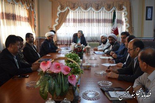 جلسه هماهنگی همایش مسجدمحوری در شهرستان ترکمن برگزار شد