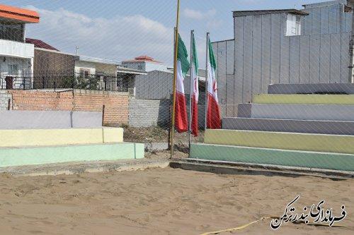 بازدید فرماندار ترکمن و ناظر فنی فدراسیون جهانی والیبال ساحلی از محل برگزاری تور جهانی تک ستاره والیبال ساحلی