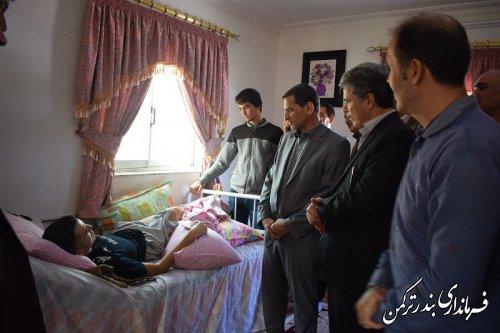 """عیادت فرماندار و رئیس فدراسیون پزشکی ورزشی کشور از """"یاشار کمی"""""""
