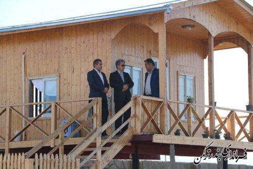 بازدید فرماندار شهرستان ترکمن از مجتمع فرهنگی، ورزشی و گردشگری همایون