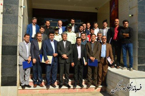 تجلیل از عوامل اجرایی برگزاری تور جهانی تک ستاره والیبال ساحلی شهرستان ترکمن
