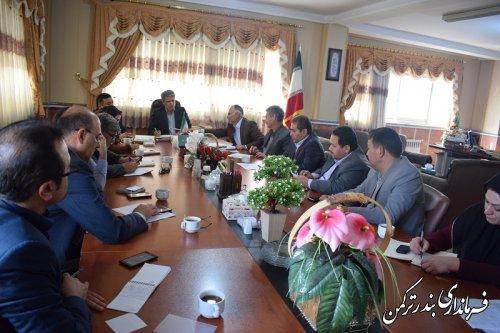 """جلسه هماهنگی اجرای طرح """"روستای بدون بیکار"""" در شهرستان ترکمن تشکیل شد"""