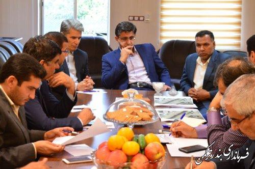 جلسه جانمایی محل احداث پل بر روی کانال اورکت حاجی در شهرستان ترکمن برگزار شد
