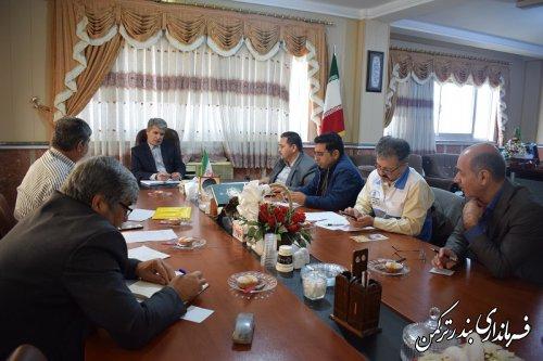 جلسه کارگروه ساماندهی امور آرد، نان و گندم شهرستان ترکمن تشکیل شد