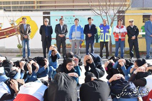 بیستمین مانور سراسری زلزله و ایمنی در شهرستان ترکمن
