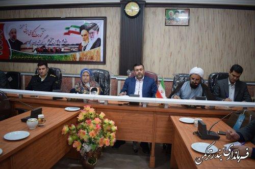 دومین جلسه هماهنگی ستاد بزرگداشت دهه فجر شهرستان ترکمن برگزار شد