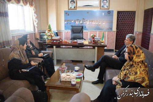 دیدار مدیرکل امور بانوان و خانواده استانداری با فرماندار ترکمن