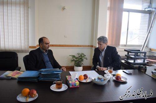 دیدار فرماندار ترکمن با مدیر جمعآوری و فروش اموال تملیکی گلستان