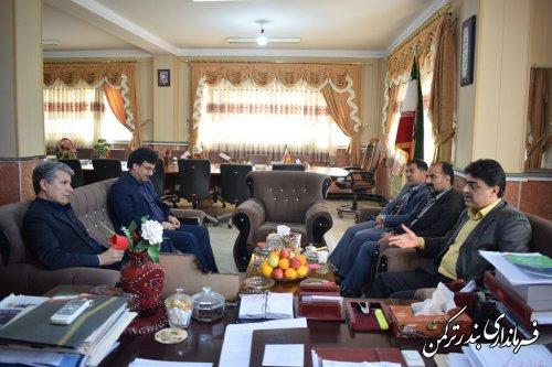 دیدار مدیرعامل شرکت آب و فاضلاب روستایی استان با فرماندار ترکمن