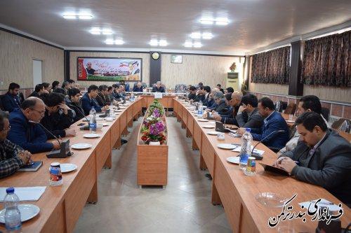 نهمین جلسه ستاد اشتغال شهرستان ترکمن برگزار شد