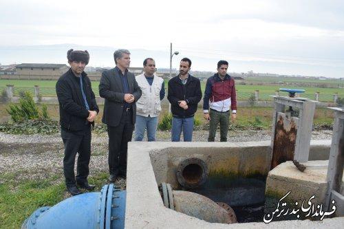 بازدید فرماندار از تصفیه خانه و ایستگاه پمپاژ مرکزی فاضلاب شهرستان ترکمن