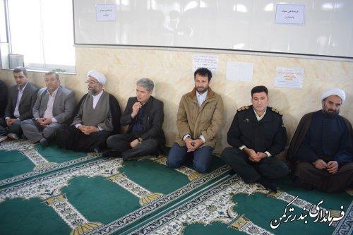 حضور فرماندار و مسئولین شهرستان ترکمن در روستاهای چاپاقلی و صیدآباد بخش مرکزی