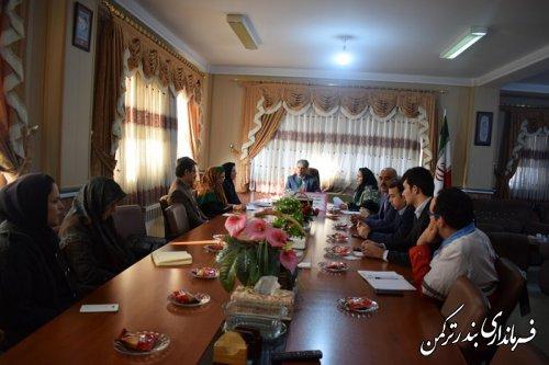 ششمین جلسه انجمن کتابخانه های عمومی شهرستان ترکمن برگزار شد