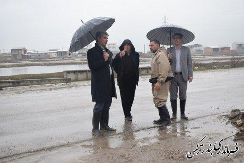 بازدید فرماندار از آبگرفتگی مناطق سطح شهر
