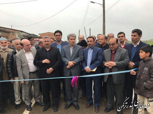 افتتاح طرح هادی روستای پنج پیکر