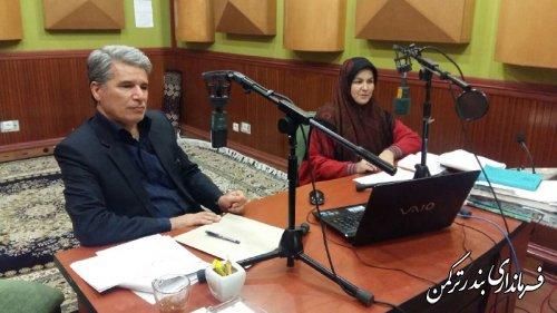 """فرماندار شهرستان ترکمن در برنامه """"اولکام"""" رادیو ترکمن صدای گلستان حضور یافت"""