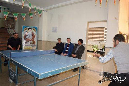 برگزاری مسابقات تنیس روی میز کارکنان فرمانداری شهرستان ترکمن