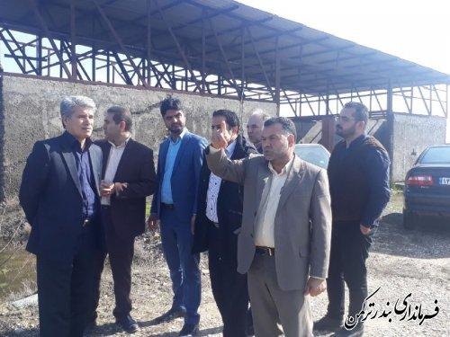 بازدید فرماندار از طرح های گردشگری شهرستان ترکمن