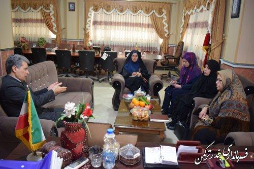 دیدار  سرپرست دفتر زنان و خانواده استانداری گلستان با فرماندار ترکمن