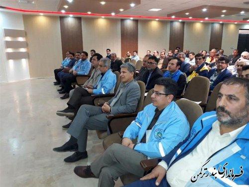 حضور فرماندار ترکمن در دوره آموزشی مدیریت جامع سیلاب و بلایا