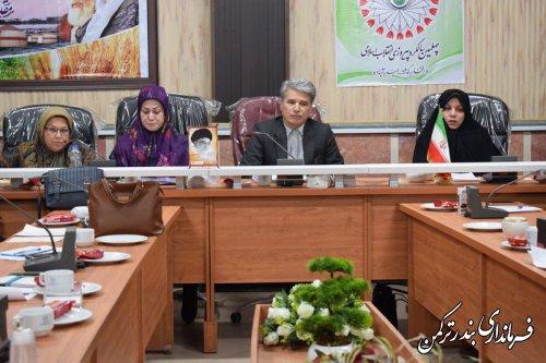 جلسه شورای راهبردی زنان شهرستان ترکمن برگزار شد
