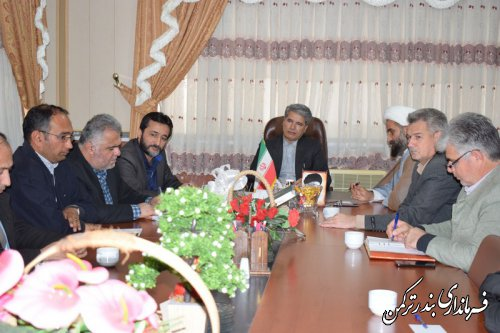 جلسه هماهنگی برگزاری جشن نیکوکاری در شهرستان ترکمن برگزار شد