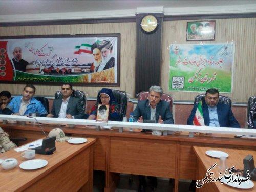 جلسه ستاد اجرایی خدمات سفر شهرستان ترکمن برگزار شد