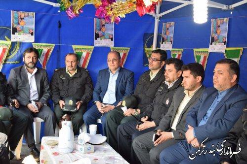 برپایی پایگاه های جشن نیکوکاری در شهرستان ترکمن