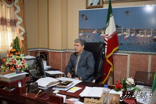 حضور فرماندار ترکمن در جلسه ویدئو کنفرانس مشترک با فرمانداران