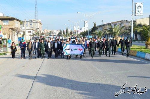 مراسم پیاده روی مسئولین شهرستان ترکمن