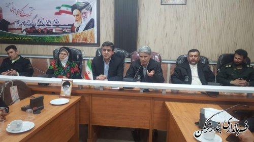 جلسه فوق العاده ستاد مدیریت بحران شهرستان ترکمن