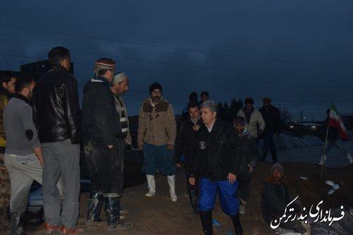 بازدید فرماندار شهرستان ترکمن از روستای یامپی