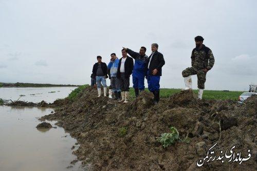 بازدید فرماندار ترکمن از روستاهای زابل محله علیا و سفلی