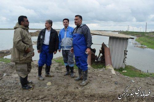 بازدید فرماندار ترکمن از آب بندان شیلات