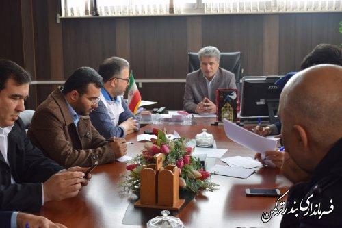 جلسه ستاد اسکان سیل زدگان در شهرستان ترکمن برگزار شد