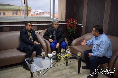 دیدار مدیرکل بازرسی، مدیریت عملکرد و امور حقوقی با فرماندار ترکمن
