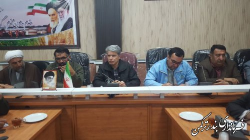 جلسه ستاد مدیریت بحران شهرستان ترکمن برگزار شد
