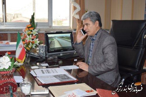مصاحبه تلفنی فرماندار ترکمن با رادیو ترکمن صدای گلستان